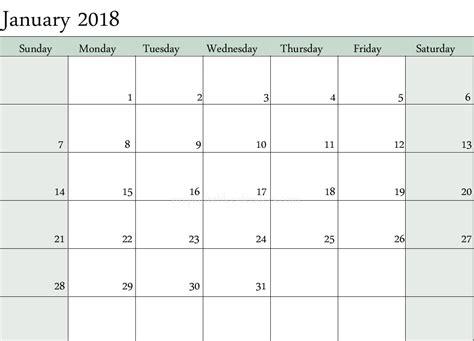 january monthly calendar printable printable