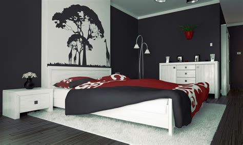 black white and red bedroom bedroom ideas pictures red black and white bedroom ideas with tree painting above