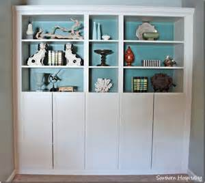 How To Add Built In Bookshelves Part 2 Building In Ikea Billy Bookcases With Molding
