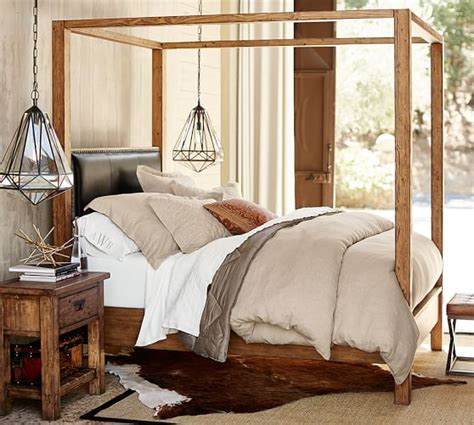Pottery Barn Canopy Bed Caden Canopy Bed Pottery Barn