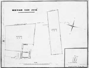 mission san jose floor plan layout of san jose mission california missions resource