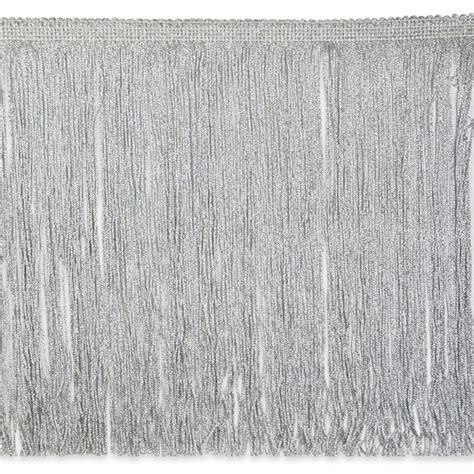 Scallop Detail Blouse Et Cetera 12 quot metallic chainette fringe silver discount designer