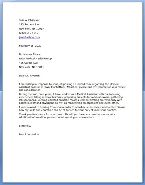 Cover Letter Of Assistant Assistant Cover Letter