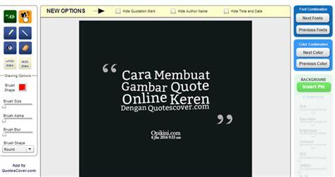 cara membuat quotes di wattpad cara membuat gambar quote online keren dengan quotescover com