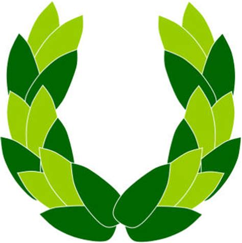 laurel leaf crown template olympics paper plate wreath