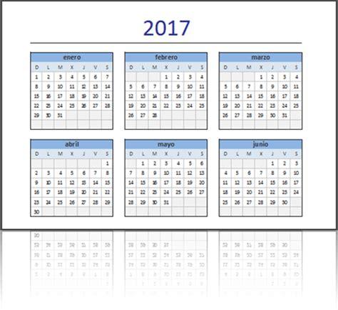 Calendario Trimestral 2017 Descarga El Calendario 2017 En Excel Listo Para Imprimir