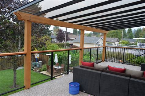 deck awning upgrade to glass awnings in greater vancouver