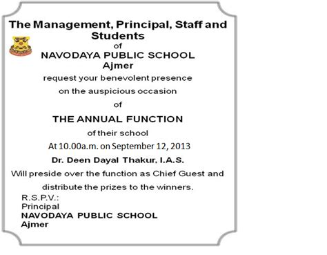 Invitation Letter Format School Function Formal Invitation And Reply Notes Assignments For Cbse Class 11 Extramarks
