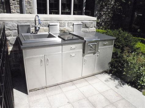 stainless outdoor kitchen cabinets stainless steel outdoor countertops brooks custom