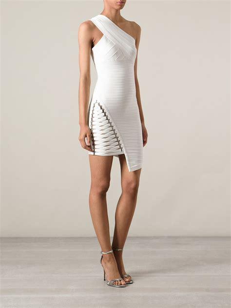 Herve Dress lyst herv 233 l 233 ger maran bandage dress in white