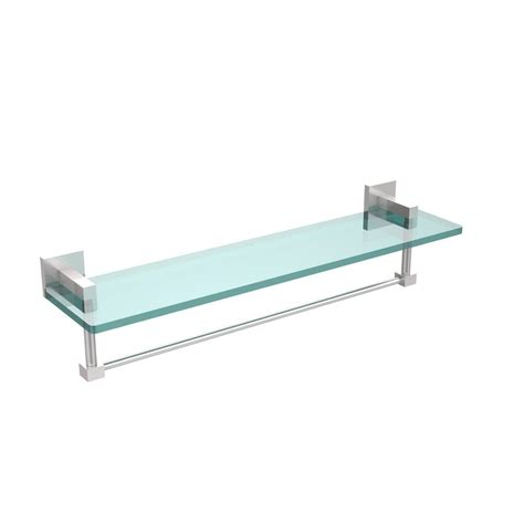 glass bathroom shelf with towel bar allied brass montero 22 in l x 5 1 4 in h x 5 3 4 in w