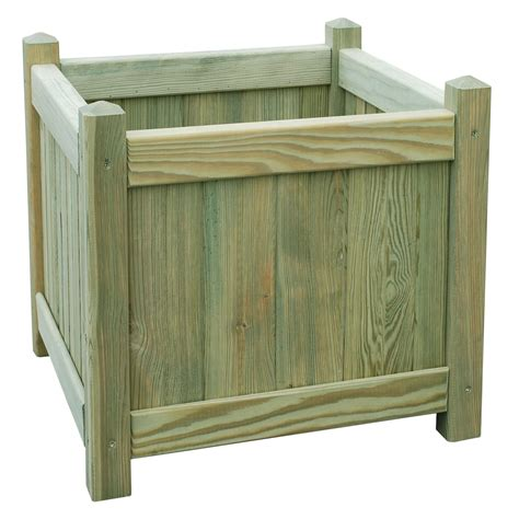 Square Wooden Planters by Square Wooden Planter H 450mm L 450mm Departments