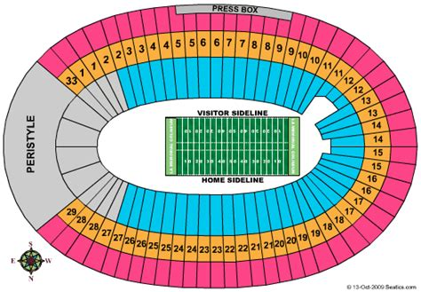 los angeles coliseum seating all the world la coliseum seating chart