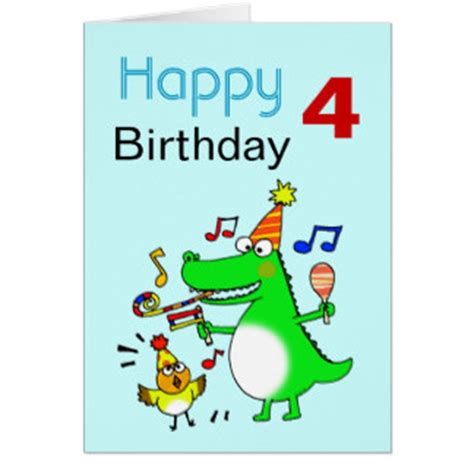 Happy Birthday Wishes For 8 Year Boy 4 Years Old Boy Birthday Cards Invitations Zazzle Co Nz