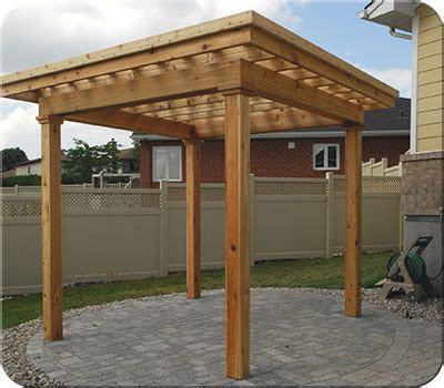 custom flat roof cedar pergola fence all pergolas