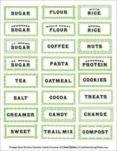 printable pantry labels pinterest