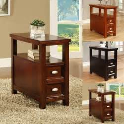 small end tables with drawers rectangle sofa chairside accent end snack tea table 1