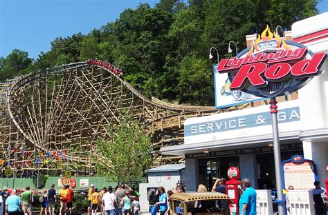 doll wood lightning rod review dollywood launched wooden coaster