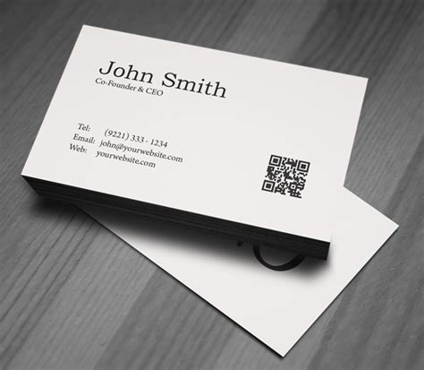 Minimalistic Business Card Template Free by Free Minimal Business Card Psd Template Freebies