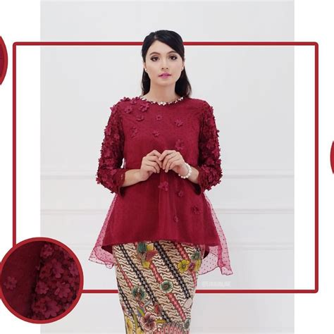 Dress Setelan Top Brokat Rok Organza lace top kebaya modern brokat organza eiwaonline baju kurung brokat kebaya and