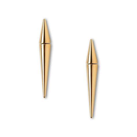 Metallic Earring stella mccartney spike earring in metallic lyst
