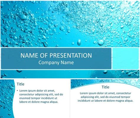 template water 7 best environment powerpoint templates images on
