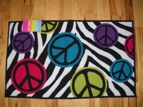 peace sign rug 34 99 bedroom decor peace signs with zebra stripe throw rug room from the zone get