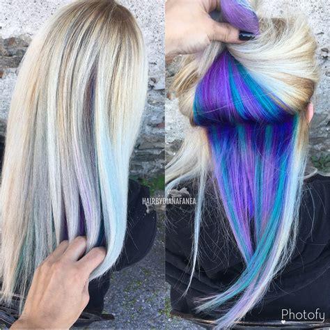 unicorn hair color peek a boo hair peekaboo unicorn hair unicorn roots