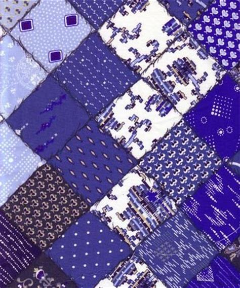 Blue Patchwork - blue white patchwork fabric 414