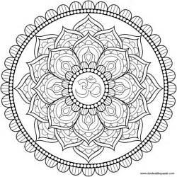 Om Lotus Mandala Don T Eat The Paste Lotus Om Mandala To Color