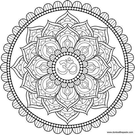 Mandala Coloring Pages Lotus | don t eat the paste lotus om mandala to color