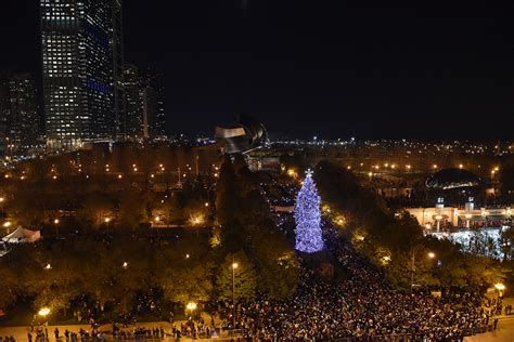 chicago tree lighting 2017 city of chicago 102nd tree