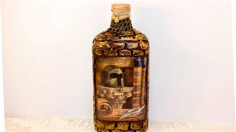 tutorial decoupage botol diy decoupage bottles tutorial lesson for begginners glass