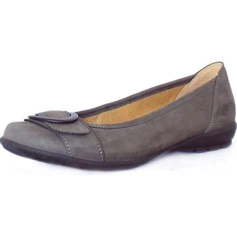 gabor flat shoes gabor garda modern flat shoes in grey nubuck mozimo