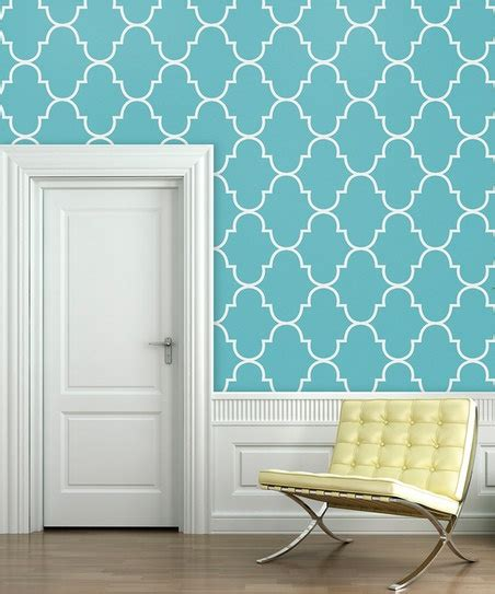 wallpaper blue trellis tiffany blue classic trellis wallpaper decal