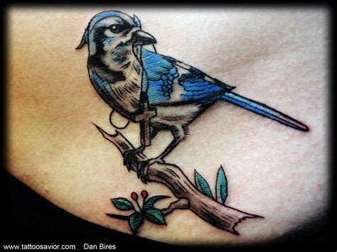 blue jay tattoo meaning blue bird meaning
