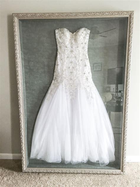 wedding dress frame ideas  preserve  precious