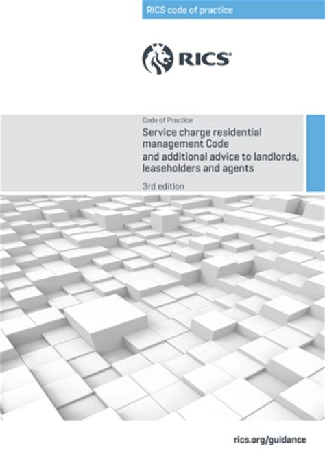 new rics service charge residential management code of