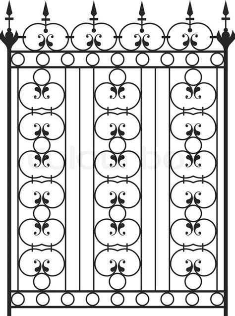 Wrought Iron Gate Door Fence Window Grill Railing