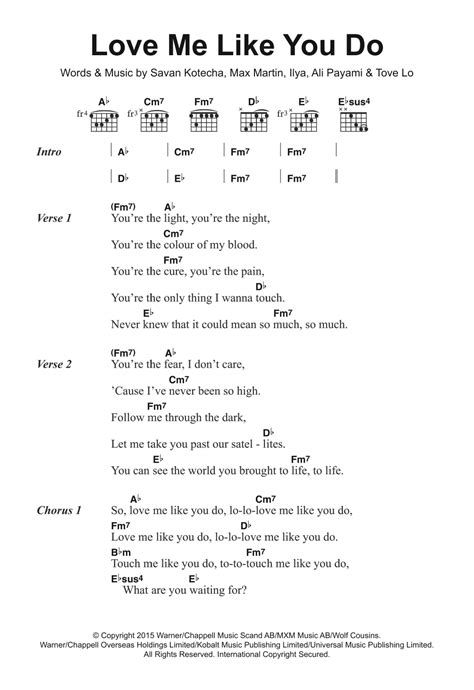your song ellie goulding testo me like you do by ellie goulding guitar chords