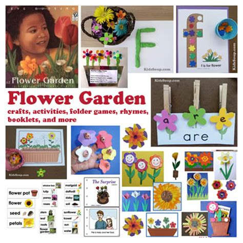 flower garden by bunting flower garden crafts activities lessons for
