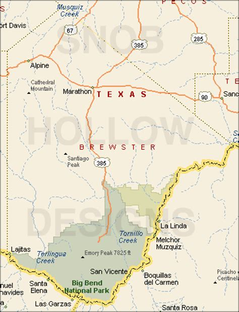 brewster county texas map brewster county texas color map