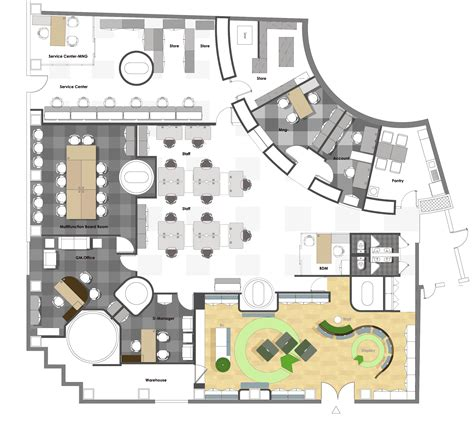 layout of the office in the office cda buro design