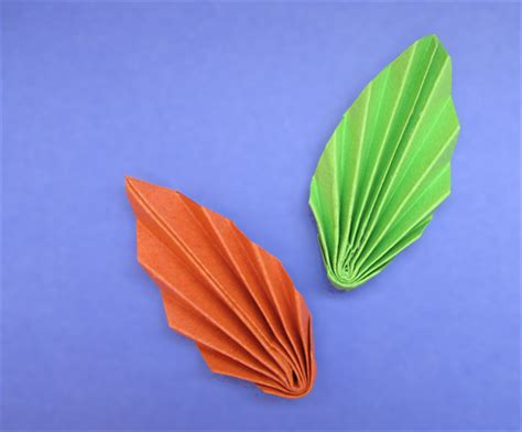 Make Paper Leaves - how to make paper leaves