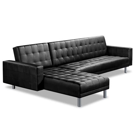 Pu Leather Sofa with Pu Leather Sofa Bed 5 Seater