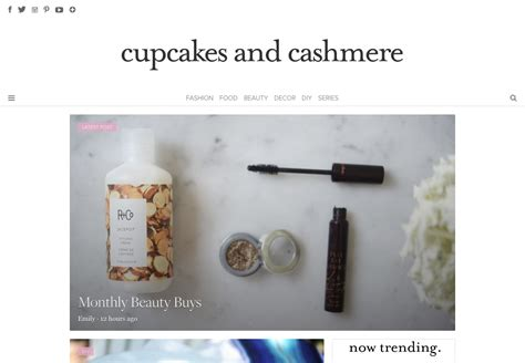 cupcakes and cashmere cupcakes and cashmere lifestyle blog custom design