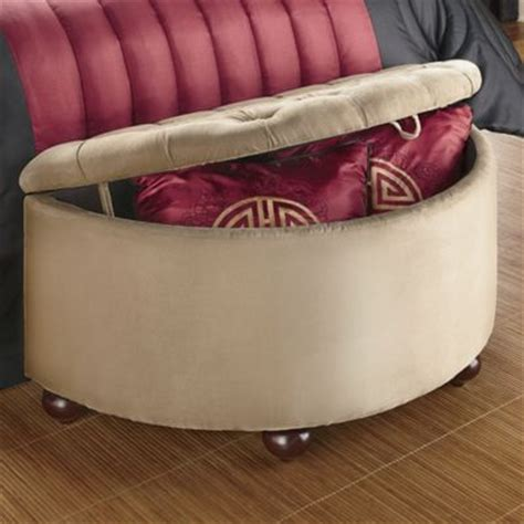 half moon bench half moon storage bench from montgomery ward 174 si48635