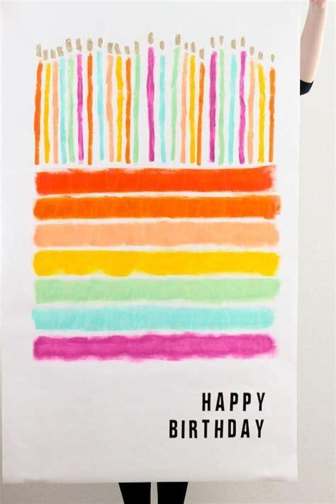 Happy Birthday Diy Cards Diy Happy Birthday Poster Couleur Pinterest