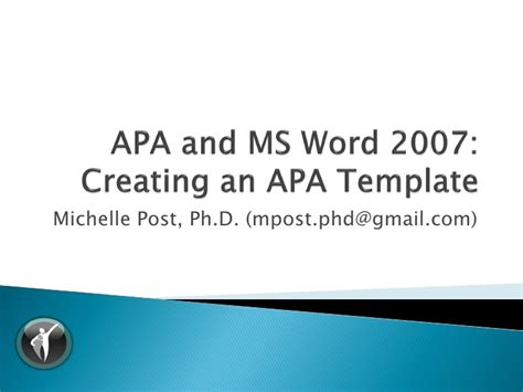 apa styles office templates