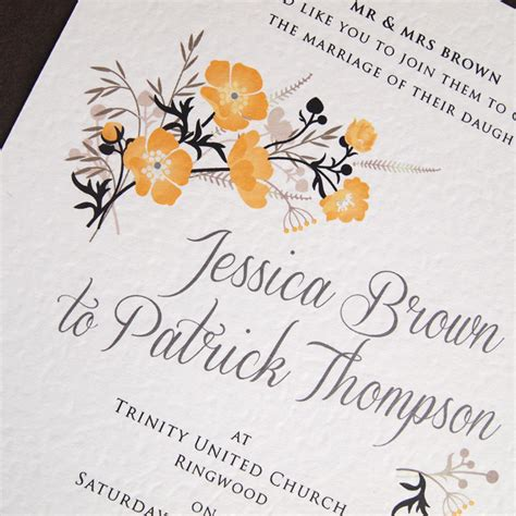 Wedding Invitations Yellow Paper by Black And Yellow Wedding Invitations Black Yellow